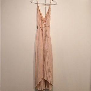 ASTR The Label Blush Maxi Wrap Dress
